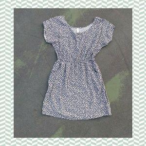 sundress with pockets cute grey polka dots med EUC